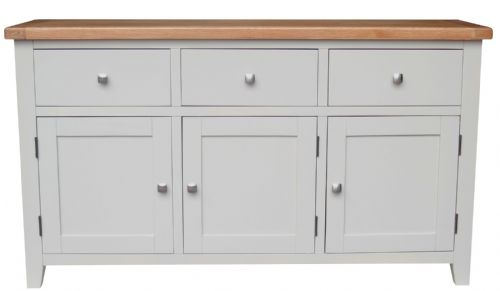 Malvern Grey 3 Door Sideboard